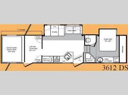 Raptor 5th Wheel Toy Hauler Floor Plans by Used 2008 Keystone Rv Raptor 3612ds Toy Hauler Fifth Wheel At