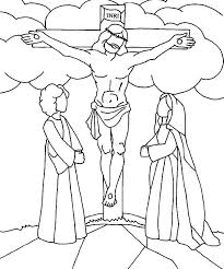 Good Friday Coloring Pages Jesus Christ Crucifixion