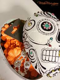 Day Of The Dead Pumpkin Carving Patterns by Diy Day Of The Dead Sugar Skull Treat Boxes They U0027re Spooky