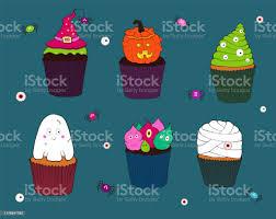 cupcakes spinnen und augen cupcake mit einem guss ein kuchen mit einem hexenhut und einer spinne ein kuchen mit sahnemonstern ein cupcake