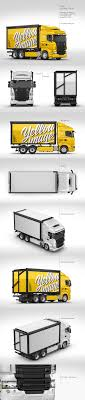 100 Hand Picked Trucks Truck Mockup Pack In Picked Sets Of Vehicles On Yellow Images