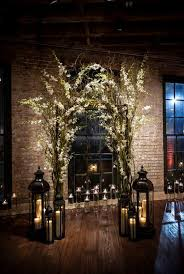30 Winter Wedding Arches And Altars To Get Inspired 10 Indoor Branches
