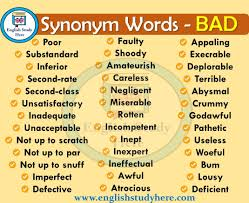bad synonyms words study here