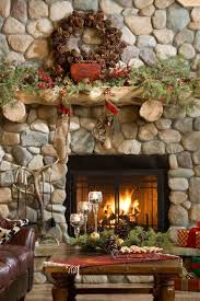 Rustic Christmas Fireplace Living Room Decor Ideas Easy Home