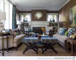 blue and brown living room decor modern home design ideas