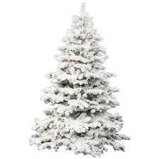 the holiday aisle flocked alaskan 7 5 white artificial christmas