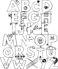 Trend Alphabet Coloring Pages 46 With Additional For Adults