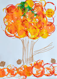 Fall Art Projects For Kids Easy Tree Printing