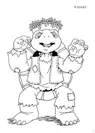 Franklin Character Halloween Coloring Page