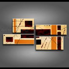 modern abstract painting on canvas gallery wrapped wall