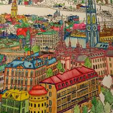Pinterest Fantastic Cities Colouring Book 93