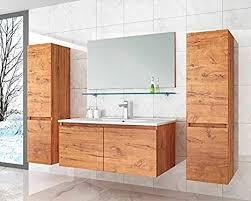 david badmöbel set 90 cm eiche badezimmermöbel hochschrank