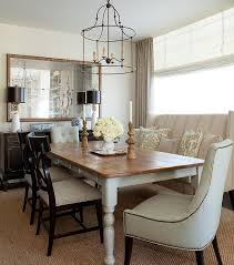 Farmhouse Dining Table With Wingback Settee