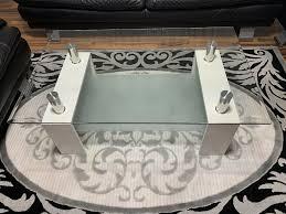 glastisch wohnzimmer couchtisch weiß glas