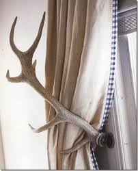 Antler Curtain Tie Backs by Antler Tieback Tidbits Twine