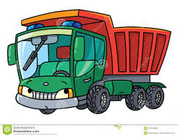 Funny Small Dump Truck With Eyes Stock Vector - Illustration Of ...