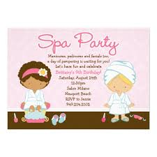 Birthday Invites Latest Spa Party Invitations Which You Need To Make Free Printable