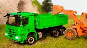 100 Green Trucks The Dump Truck Working Bip Bip Cars Cartoon For