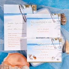 Seaside Beach Wedding Invites
