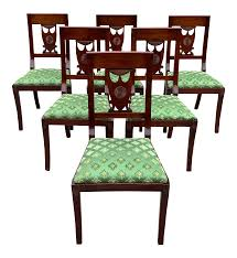 1910s French Empire Solid Mahogany Dining Chairs - Set Of 6 Empire Ding Chair Duncan Phyfe Room Chairs 1 Style Ding Chair From Our Exclusive Empire Collection Pr Mid 19th C Gondola Chairs Signoret Amazoncom Inland Fniture Madalena 7 Pc Formal Outdoor Wicker Bistro Cork Empire Classic Fniture Side Espresso Set Of 2 A Set Eight Maison Jansen Giltbronze Mounted Mahogany 1949 45 Masterpiece Collection