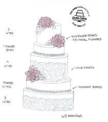new orleans wedding cake sketch