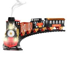 Ebay Christmas Trees With Lights by Christmas Train Toy Holiday Classic Lights Sound Smoke Track