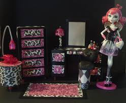 Monster High Bedroom Set by My Small Obsession Monster High Dollhouse Project