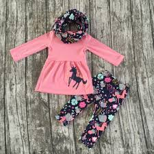 2017 fall winter scarf pink top baby girls kids unicorn