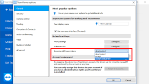 How can I restrict access for TeamViewer connections to my puter