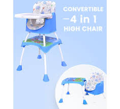 R For Rabbit Cherry Berry Grand - The Convertible 4 In 1 High Chair For  Baby/Kids (Blue)