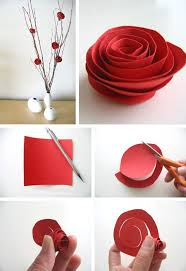 Paper Rose Flower Making Easy Flowers Craft