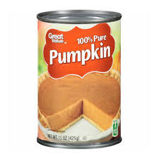 Libbys 100 Pure Pumpkin Nutritional Info by Great Value 100 Pure Pumpkin Reviews