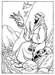 Coloring Sheet For Bible Story Of Davids Father Sent Him To Carry Food His Brothers