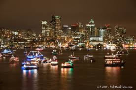 West Seattle Christmas Tree Disposal by Seattle Holiday Boat Parade Photo By Bob Harbison Winter