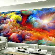 Modern Abstract Art Colorful Clouds Oil Painting Photo Wallpaper Dining Room Gallery Creative Backdrop Wall Decor Papel Mural 3d Free Desktop
