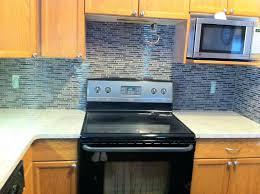 blue glass mosaic tile backsplash stylish glass kitchen tile new