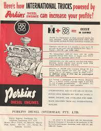 100 Diesel Performance Trucks 1958 Perkins Engines International Ad Au