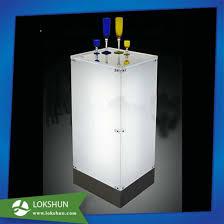 OEM Plexigalss Wine Rack LED Acrylic Liquor Bottle Display Stand