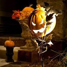 Metal Halloween Yard Stakes by Halloween Pumpkin Light Stake Christmas World