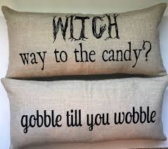 Bad Halloween Candy List by Halloween Witch Candy Gobble Fall Pillow Witches Pillows And