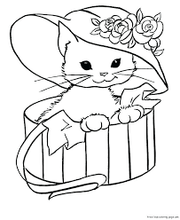 Coloring Pages Of Cute Animals Perfect G Printable New Baby Dog Elegant Cat