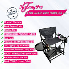 Tuscany Pro Mid Size Makeup & Hair Portable Chair-22