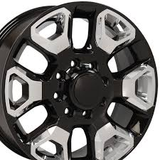 100 8 Lug Truck Wheels CP 20 Wheel Rim Fits Dodge RAM X165 Gloss Blk WChrome