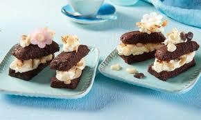 kleine schoko kuchen mit frischkäse creme