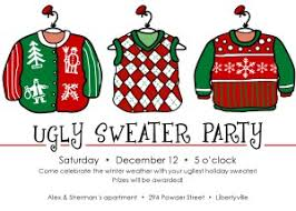 Printable Ugly Christmas Sweater Party Invitation Template