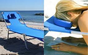 This Beach Lounge Chair Has An Actual Face Hole For Reading Blue Chaise Lounge Beach Chair With Rustproof Steel Frame In 2019 Appealing Folding With Face Hole Pool Ostrich Deluxe Facedown White Stripe Rio 4position Alinum Bpack Portable Outdoor 3in1 Patio Cup Holder Modern Chairs Best House Design The Makes It Comfy To Lie On Your Stomach Recliners Sun Bathe Arm Slots