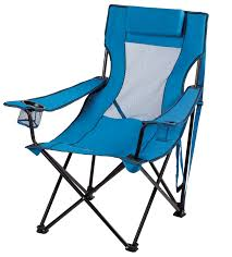 Ozark Trail Folding Lounge Chair With 2 Cup Holders, Blue - Walmart.com