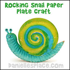 Rocking Snail Paper Plate Craft For Kids From Daniellesplace