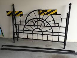 Wrought Iron King Headboard And Footboard by Bed Bath Metal Double Wrought Iron Frames For Vintage Bedroom
