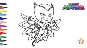 Pj Mask Owlette Coloring Pages Free